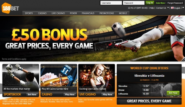 How To Claim 188Bet $/€ 50 Free Bonus