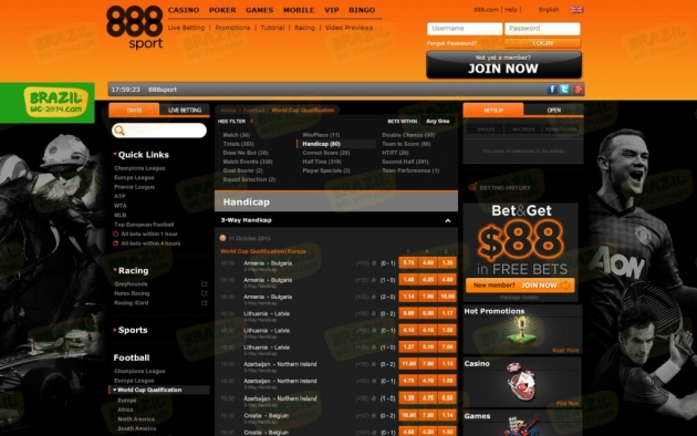 888Sport Bookmaker Review