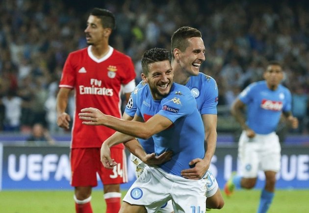 Benfica vs. Napoli Predictions & Match Preview 06/12/2016