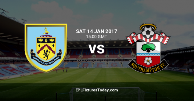 Burnley vs	Southampton. Predictions & Tips 14/01/2017