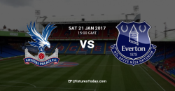 Crystal Palace vs Everton. Predictions & Tips 21/01/2017