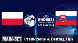 Poland U21 vs. Slovakia U21 Predictions & Betting Tips 16/06/2017