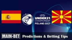 Spain U21 vs. Macedonia U21 Predictions & Tips 17/06/2017