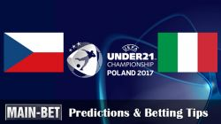 Czech Republic U21 vs. Italy U21 Predictions & Betting Tips 21/06/2017