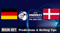 Germany U21 vs. Denmark U21 Predictions & Betting Tips 21/06/2017