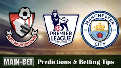 Bournemouth vs Manchester City Match Predictions 26/08/2017