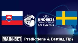 Slovakia U21 vs. Sweden U21 Predictions & Betting Tips 22/06/2017