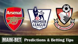 Arsenal vs Bournemouth Match Predictions 09/09/2017