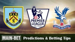 Burnley vs Crystal Palace Match Predictions 09/09/2017