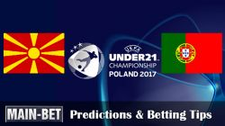 Macedonia U21 vs. Portugal U21 Match Prediction 23/06/2017
