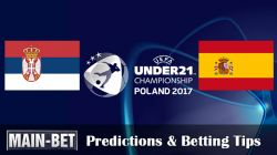 Serbia U21 vs. Spain U21 Match Prediction 23/06/2017