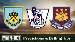 Burnley vs West Ham United Predictions & Betting Tips 14/10/2017