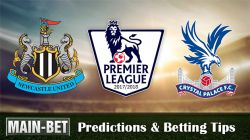 Newcastle United vs Crystal Palace Betting Predictions, 21 Oct 2017