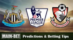 Newcastle United vs Bournemouth Predictions, 04 Nov 2017