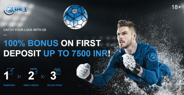 1xBet New Customer Bonus Up To 7500 INR for Bettors in India