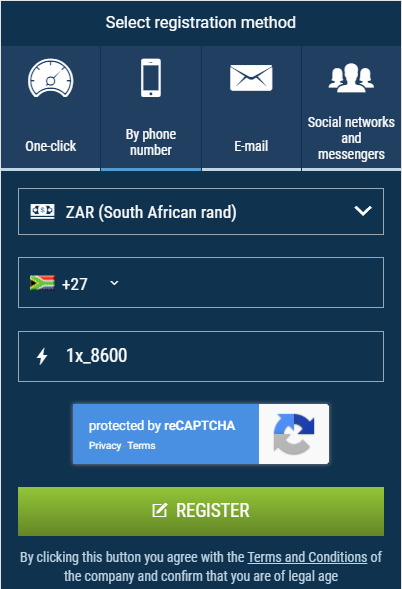 How to register with 1xBet and use 1xBet promo code for South Africa