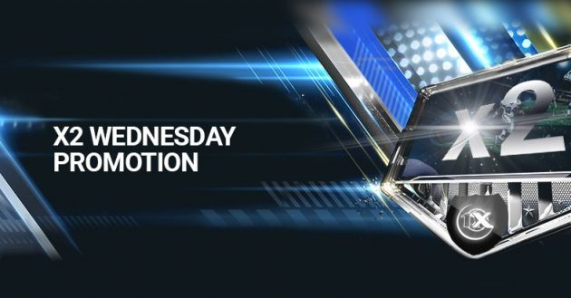 """X2 Wednesday"" Promotion from 1xBet - Multiply Your Bets on Wednesday"