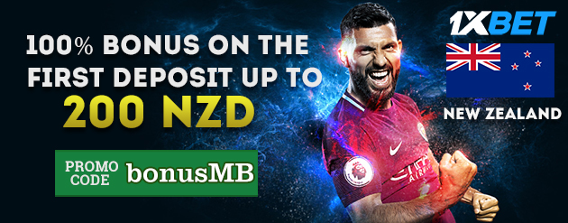 1xBet New Customer Bonus Up To 200 NZD for Bettors in New Zealand