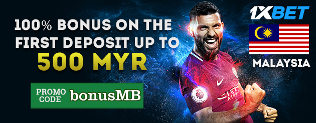 1xBet New Customer Bonus Up To 500 MYR for Bettors in Malaysia