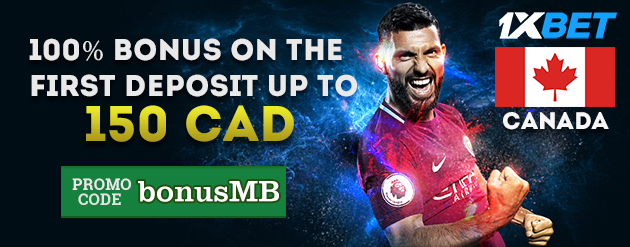 1xBet New Customer Bonus Up To 150 CAD for Bettors in Canada