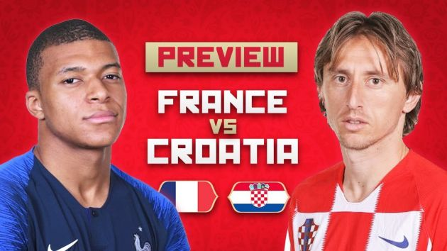 France vs Croatia Predictions and Betting Tips, 15 Jul 2018