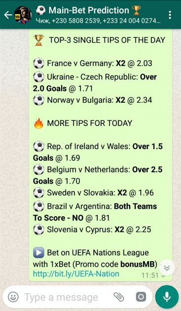 WhatsApp Betting Group: Fresh Daily Bet Tips and Football Predictions