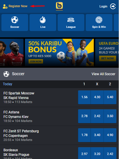 Betin Kenya Promo Code: How To Register and Get 50% Karibu