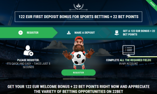 22Bet Sports Betting Bonuses: How To Register, Promo Code, First Deposit at 22Bet