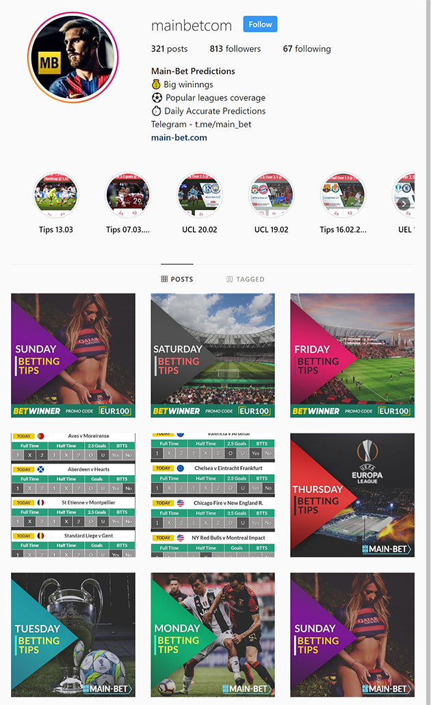 Instagram Soccer Betting Tips: Follow The Ultimate Page of Insta