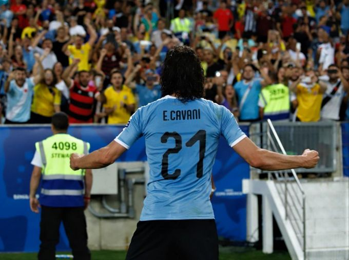 Cavani score only goal for Uruguay to win over Chile