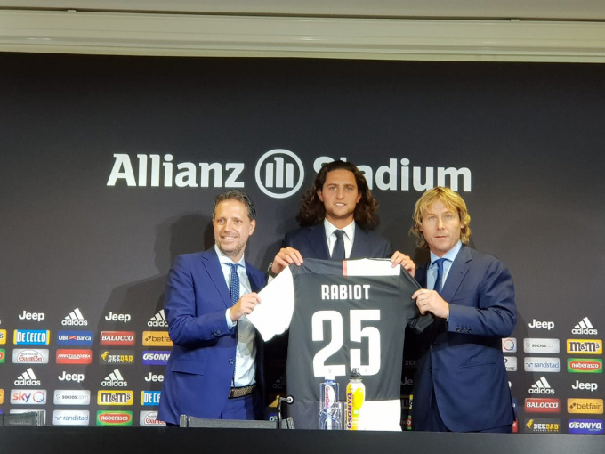 Rabiot will be wearing Juve's No 25 shirt