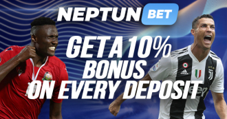 NeptunBet: Get 10% Bonus On Every Deposit